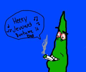 Seaweed singing Hey Jude while smoking