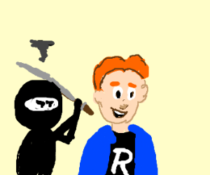 Angry ninja sneaks up on Archie Andrews