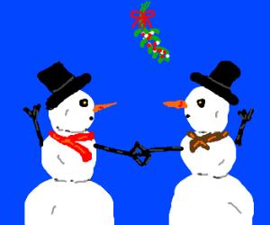 Snowmen in love