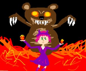 Annie and Tibbers *dancing*