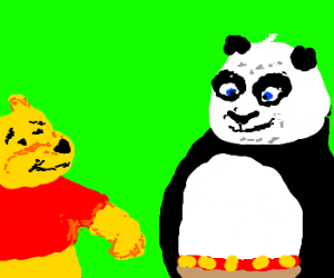 Winnie the Pooh as Panda from We Bare Bears by