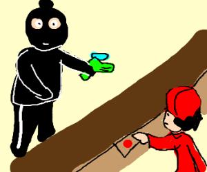 Burglar tries to hold up store w/ a squirt gun