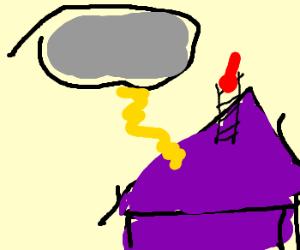 Cake gets zapped by lightning!