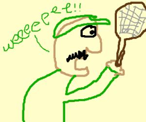 Luigi playing tennis