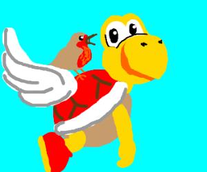 Robin rides red Koopa Troopa