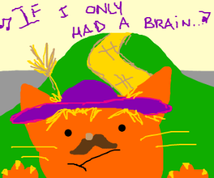 Cat wants a brain because his was stolen