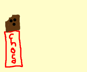 Chocolate bar, magnified