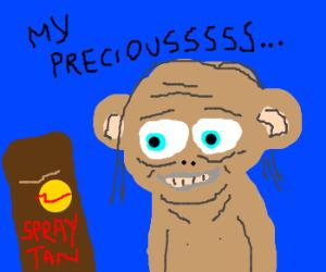 Gollum gains tan but keeps habits
