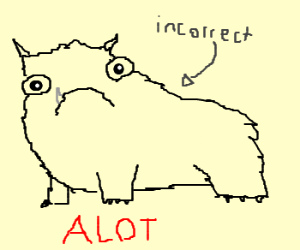 """a lot"" is correct, ""alot"" is not"