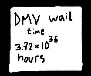 DMV wait time