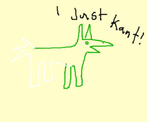 Retarded Green and White Mule just KANT!!!