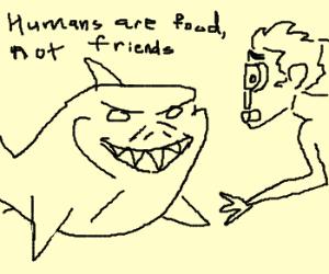 Nemo has shark attack scubadiver that took him