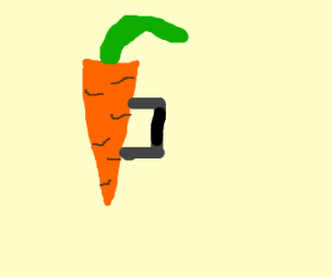 Carrot with a handle