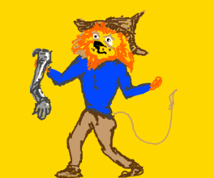 Lion = scarecrow, but what about tin man?