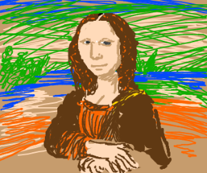 Try to draw the Mona Lisa