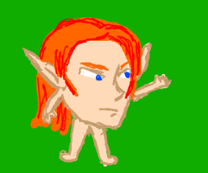 Ginger Elf is just a head with arms and legs