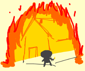 Bobby sets building on fire