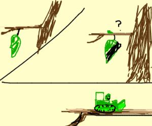 Caterpillar grows into bulldozer