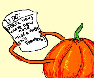 Evil Pumpkin's to-do list.