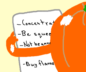 orange has a to-do list