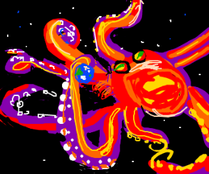 Octopus climbs the edge of space