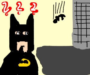 batman confused about man falling