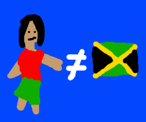 Person does not equal Jamaica