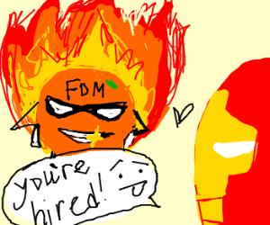 Newest Avenger = Flaming Orangeman