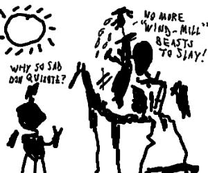 Sad Black & White Picasso