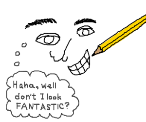 Guy laughs at the way you drew him