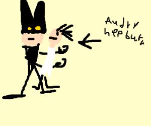 batman saves his fav actress Audry Hepburn