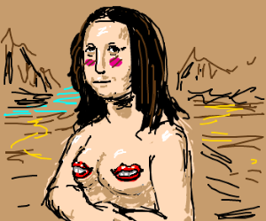 Mona Lisa gets naked