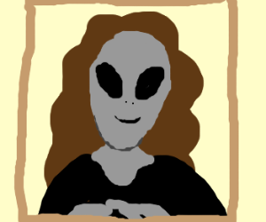 Mona Lisa is an Alien