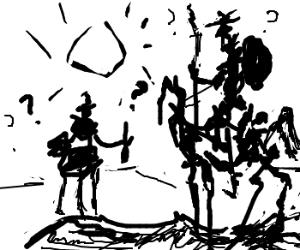 Picasso's Don Quixote is outta windmills.