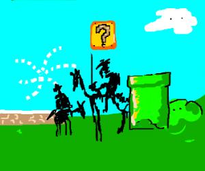 Don Quixote and Sancho are confused