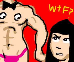 Male stripper's pecs have eyes; Cher dumbfound