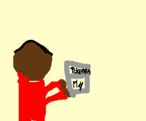 black guy playing pokemon