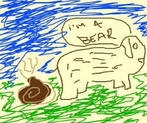 Bear Grylls takes rather large poop, nice day.