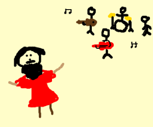 Beatles tune serenades bearded transvestite