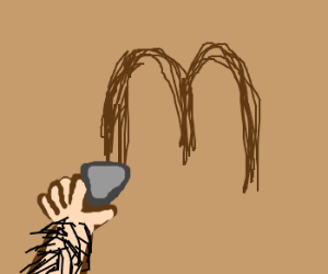 cave painting of first McDonalds