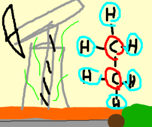 ethane, but with + 1 hydrogen on each carbon