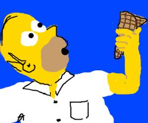 homer gots dat waffle cone