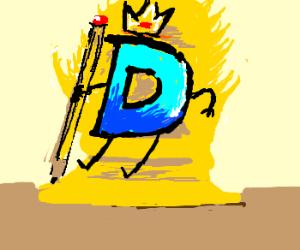 Drawception king on his golden throne