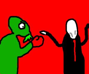 Slender man vs chuluthu