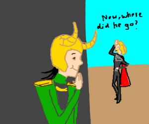 Loki plays Hide-and-Seek.