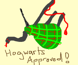 A Slytherin bagpipe