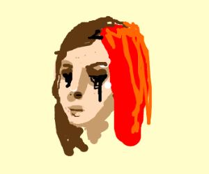 Spiritless redhead or crying emo?