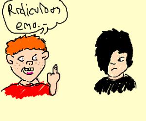 gingers laughing at Emos