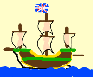 The British set sail