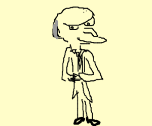 Mr. Burns from simpsons